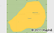 Savanna Style Simple Map of Conceicao R.Verd, single color outside