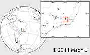 Blank Location Map of Coronel Pacheco