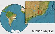 Satellite Location Map of Coronel Pacheco
