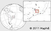 Blank Location Map of Cruzilia