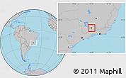 Gray Location Map of Cruzilia