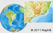 Physical Location Map of Cruzilia