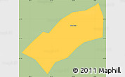 Savanna Style Simple Map of Dom Vicoso, single color outside