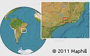 Satellite Location Map of Itamonte