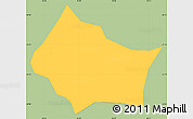 Savanna Style Simple Map of Itamonte, single color outside