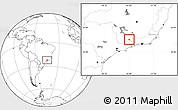 Blank Location Map of Itanhandu