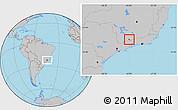 Gray Location Map of Itanhandu