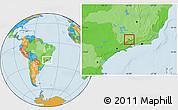 Political Location Map of Itanhandu