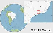 Savanna Style Location Map of Itanhandu, highlighted country