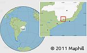 Savanna Style Location Map of Itanhandu, highlighted parent region