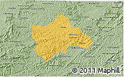 Savanna Style 3D Map of Juiz de Fora
