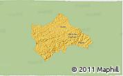 Savanna Style 3D Map of Juiz de Fora, single color outside