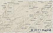 Shaded Relief 3D Map of Juiz de Fora