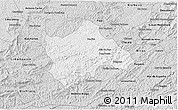 Silver Style 3D Map of Juiz de Fora