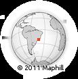Outline Map of Juiz De Fora