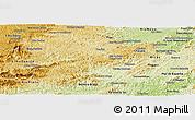Physical Panoramic Map of Juiz de Fora