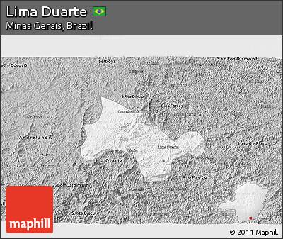 Gray 3D Map of Lima Duarte