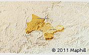 Physical 3D Map of Lima Duarte, lighten