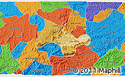 Physical 3D Map of Lima Duarte, political outside