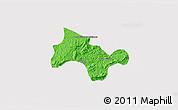 Political 3D Map of Lima Duarte, cropped outside