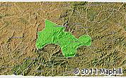 Political 3D Map of Lima Duarte, satellite outside