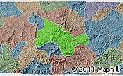 Political 3D Map of Lima Duarte, semi-desaturated
