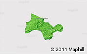 Political 3D Map of Lima Duarte, single color outside