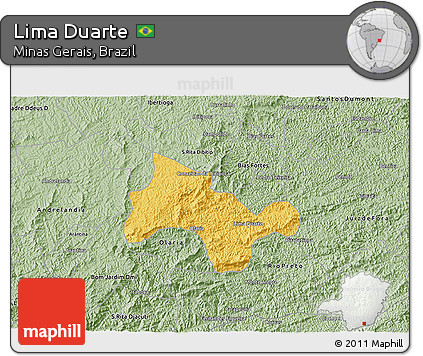 Savanna Style 3D Map of Lima Duarte