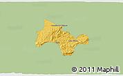 Savanna Style 3D Map of Lima Duarte, single color outside