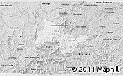 Silver Style 3D Map of Lima Duarte