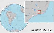 Gray Location Map of Lima Duarte