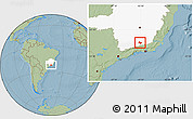 Savanna Style Location Map of Lima Duarte, highlighted parent region, hill shading