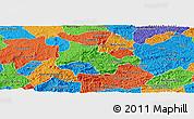 Political Panoramic Map of Lima Duarte