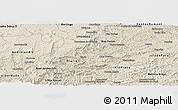 Shaded Relief Panoramic Map of Lima Duarte