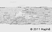 Silver Style Panoramic Map of Lima Duarte