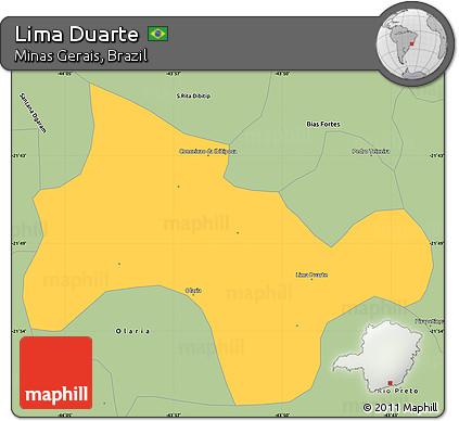 Savanna Style Simple Map of Lima Duarte