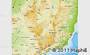 Physical Map of Minas Gerais