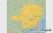 Savanna Style Map of Minas Gerais