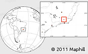 Blank Location Map of Matias Barbosa