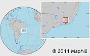 Gray Location Map of Matias Barbosa