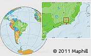 Political Location Map of Matias Barbosa