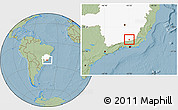 Savanna Style Location Map of Matias Barbosa, highlighted parent region, hill shading