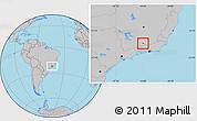 Gray Location Map of Olaria