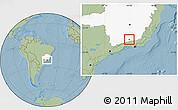 Savanna Style Location Map of Olaria, highlighted parent region, hill shading