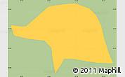 Savanna Style Simple Map of Olaria, single color outside