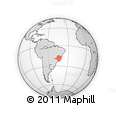 Outline Map of Minas Gerais