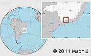 Gray Location Map of Passa Quatro, highlighted parent region