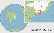 Savanna Style Location Map of Passa Quatro, highlighted parent region