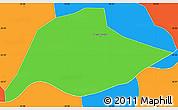 Political Simple Map of Passa Quatro