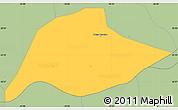 Savanna Style Simple Map of Passa Quatro